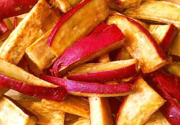 Slow Roasted Sweet Potato Wedges