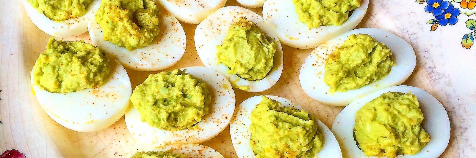 Guacamole Stuffed Eggs