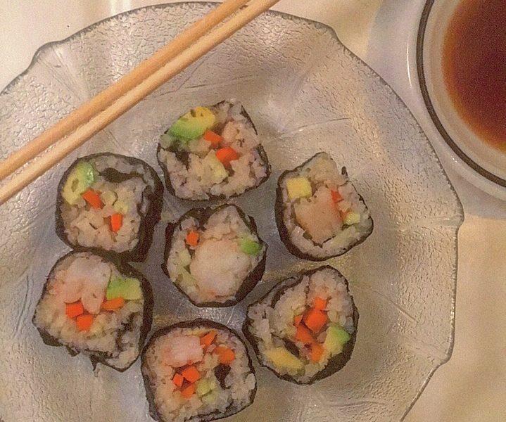 Cauliflower Shrimp and Vegetable Sushi